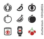 tomato icons  ketchup  tomato... | Shutterstock .eps vector #434168026