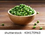 Fresh Green Pea In Bowl On...