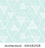 geometric triangle pattern with ... | Shutterstock .eps vector #434181928