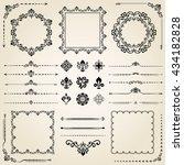 vintage set of elements.... | Shutterstock .eps vector #434182828