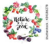Watercolor Vector Eco Food...
