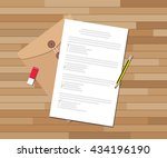 paper test document with... | Shutterstock .eps vector #434196190