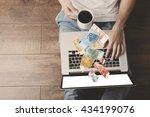 financial concept. make money... | Shutterstock . vector #434199076