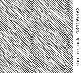 hand drawn vector pattern.... | Shutterstock .eps vector #434199463