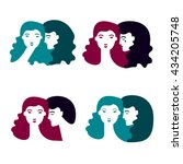 set of relationships and... | Shutterstock .eps vector #434205748