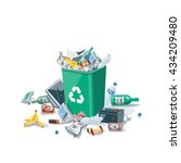 littering waste trash that have ...   Shutterstock .eps vector #434209480