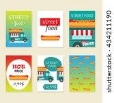 street food truck vector... | Shutterstock .eps vector #434211190