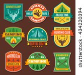 summer camping colorful emblems ... | Shutterstock .eps vector #434220394
