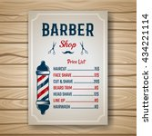 barber shop colored price or... | Shutterstock .eps vector #434221114