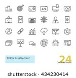 seo and development outline... | Shutterstock .eps vector #434230414