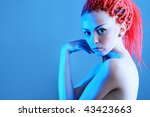 fashionable young woman with... | Shutterstock . vector #43423663