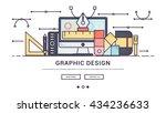 modern flat line design concept ... | Shutterstock .eps vector #434236633