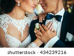 close up portrait of a bride...   Shutterstock . vector #434239216