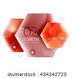 hexagon abstract geometric...