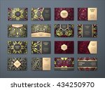 vector vintage business cards... | Shutterstock .eps vector #434250970