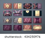vector vintage business cards... | Shutterstock .eps vector #434250976