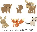 Stock vector baby forest animals 434251603