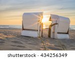 sunset at the baltic sea | Shutterstock . vector #434256349
