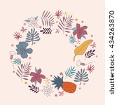 wreath vector illustration made ... | Shutterstock .eps vector #434263870