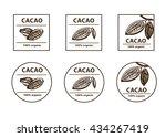cacao logo. cacao bean sign.... | Shutterstock .eps vector #434267419