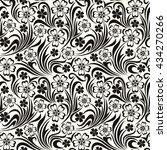 vector seamless black and white ... | Shutterstock .eps vector #434270266