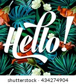 tropical print fashion vector ... | Shutterstock .eps vector #434274904