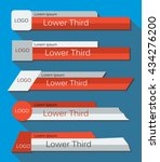 set  banners lower third in the ... | Shutterstock .eps vector #434276200