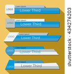set  banners lower third in the ... | Shutterstock .eps vector #434276203