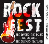 rock festival banner concept ... | Shutterstock .eps vector #434277628