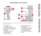 measurements for the... | Shutterstock .eps vector #434278006