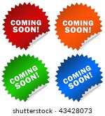 coming soon sticker isolated on ... | Shutterstock . vector #43428073
