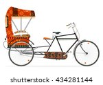 Cartoon Indian Rickshaw On A...