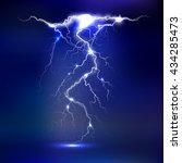 vector lightning   isolated on... | Shutterstock .eps vector #434285473