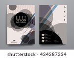 set of brochure  poster design... | Shutterstock .eps vector #434287234