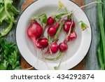 radishes in a dish | Shutterstock . vector #434292874