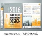 brochure design template vector.... | Shutterstock .eps vector #434295406