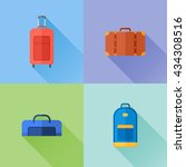 set of travel bags flat icons....   Shutterstock .eps vector #434308516