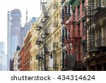 Long Row Of Colorful Buildings...
