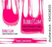 bubble gum signboard. bubble... | Shutterstock .eps vector #434318020
