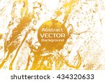 golden abstract painted marble... | Shutterstock .eps vector #434320633