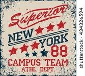 new york  sport wear typography ... | Shutterstock .eps vector #434326594