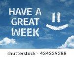have a great week cloud word... | Shutterstock . vector #434329288