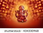 Lord Ganesha With Blured Bokhe...