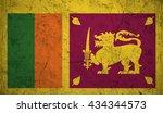 flag of sri lanka or sri lankan ... | Shutterstock .eps vector #434344573