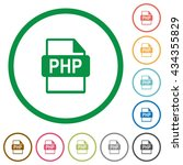 set of php file format color... | Shutterstock .eps vector #434355829
