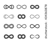 gray infinity symbol icon... | Shutterstock .eps vector #434363878