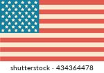 usa flag  united states of... | Shutterstock .eps vector #434364478