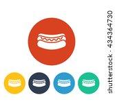 vector illustration of hot dog... | Shutterstock .eps vector #434364730