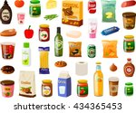 vector illustration of various... | Shutterstock .eps vector #434365453