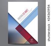 geometric business brochure ... | Shutterstock .eps vector #434365954